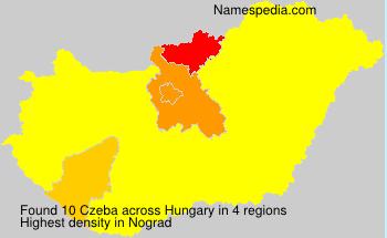 Surname Czeba in Hungary