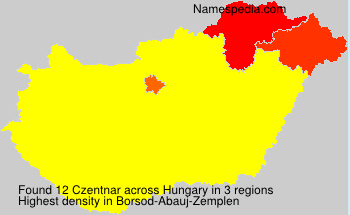 Surname Czentnar in Hungary
