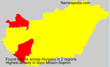 Surname Czer in Hungary