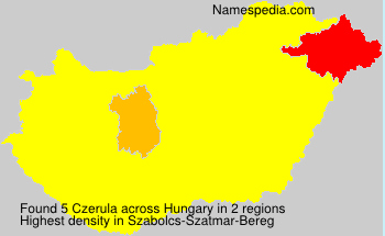 Surname Czerula in Hungary