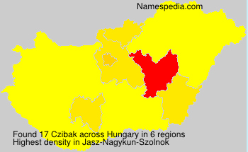 Surname Czibak in Hungary