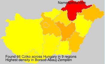Familiennamen Cziko - Hungary