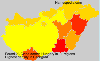 Surname Czina in Hungary