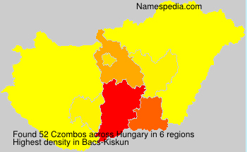 Surname Czombos in Hungary