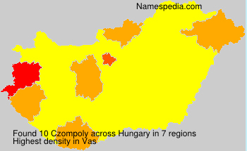 Surname Czompoly in Hungary