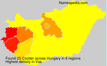 Surname Czotter in Hungary