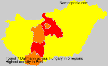 Surname Dallmann in Hungary