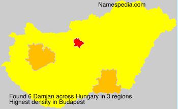 Surname Damjan in Hungary
