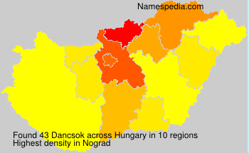 Surname Dancsok in Hungary