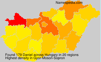 Surname Daniel in Hungary