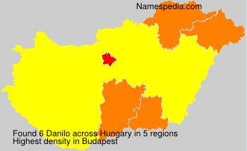 Surname Danilo in Hungary