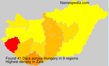 Surname Dara in Hungary