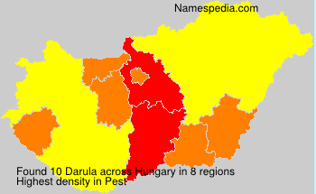 Surname Darula in Hungary