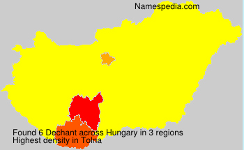 Surname Dechant in Hungary