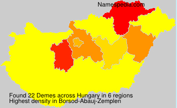 Surname Demes in Hungary