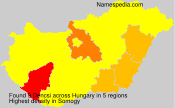 Surname Dencsi in Hungary
