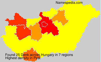 Surname Denk in Hungary