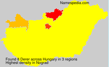 Surname Derer in Hungary