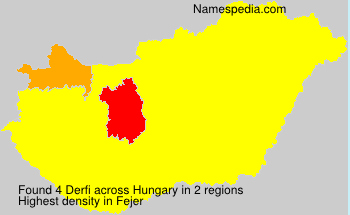 Surname Derfi in Hungary