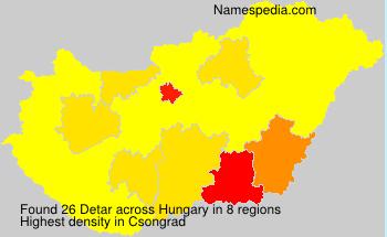 Surname Detar in Hungary