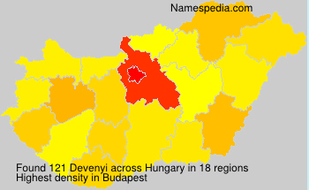 Surname Devenyi in Hungary