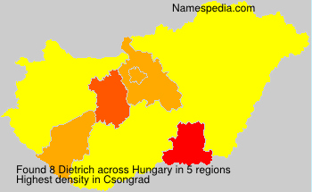 Surname Dietrich in Hungary