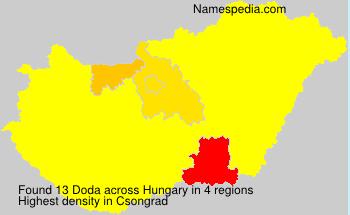 Surname Doda in Hungary