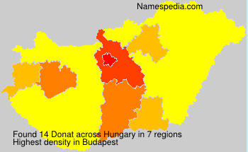 Surname Donat in Hungary