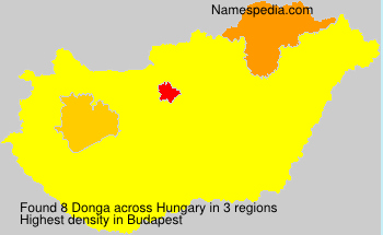 Surname Donga in Hungary