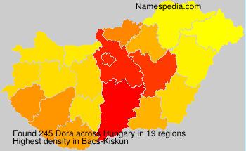 Familiennamen Dora - Hungary