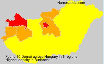 Surname Dornai in Hungary