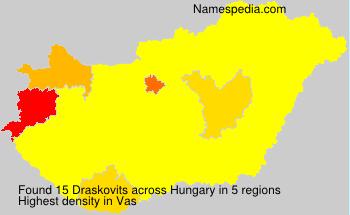 Surname Draskovits in Hungary