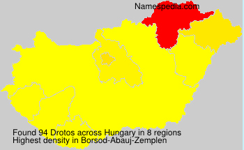 Surname Drotos in Hungary
