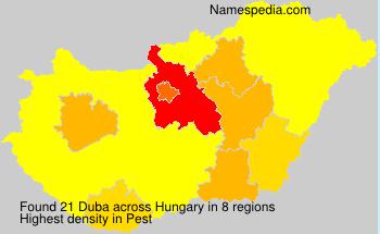 Familiennamen Duba - Hungary