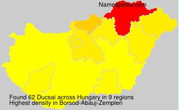 Familiennamen Ducsai - Hungary