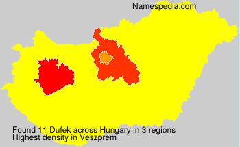 Surname Dufek in Hungary