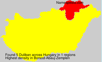 Surname Duliban in Hungary