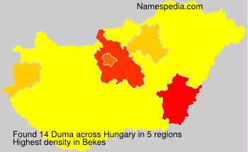 Surname Duma in Hungary