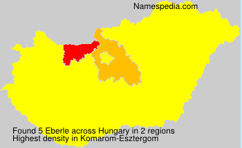 Surname Eberle in Hungary