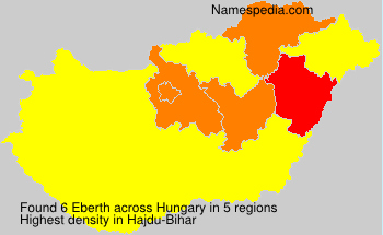 Surname Eberth in Hungary