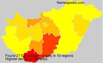 Surname Egi in Hungary
