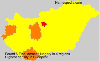 Surname Eibel in Hungary