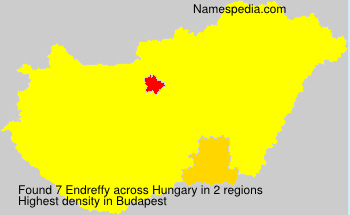 Surname Endreffy in Hungary
