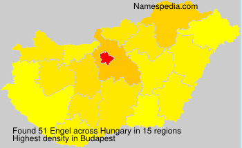 Surname Engel in Hungary