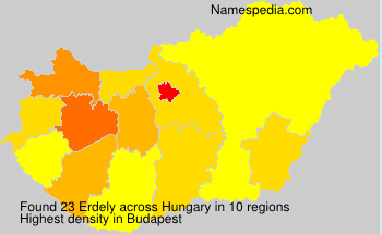 Surname Erdely in Hungary