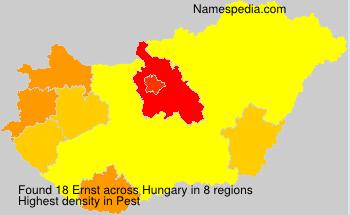 Familiennamen Ernst - Hungary