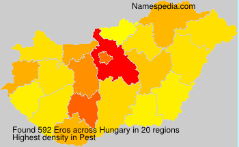 Surname Eros in Hungary