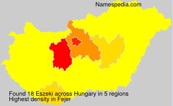 Surname Eszeki in Hungary