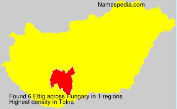 Surname Ettig in Hungary