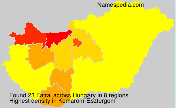 Surname Fatrai in Hungary
